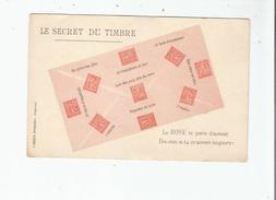 LE SECRET DU TIMBRE LE ROSE (SEMEUSES) - Timbres (représentations)