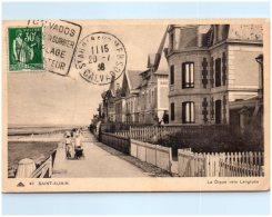 14 SAINT-AUBIN - La Digue Vers Langrune   (Recto/Verso) - Saint Aubin