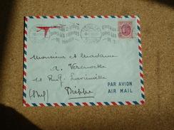 Enveloppe Affranchie Tunisie Pour Dieppe Oblitération Tunis RP 1955 Engagez-vous Dans Les Troupes De Tunisie - Tunesien (1888-1955)