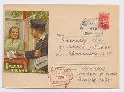 Stationery Used 1959 Mail Cover USSR RUSSIA Week Letter Postmaster Press Newspaper Leningrad P-198 - 1923-1991 USSR
