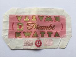 "KWATTA FRAMBI  ""  Framboise Emballage Nº351 ,chocolat Belge Charleroi , Bois D'Haine . - Publicités"