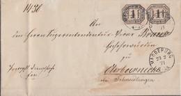 NDP Brief Mef Minr.2x D4 Magdeburg 23.2.71 - Norddeutscher Postbezirk