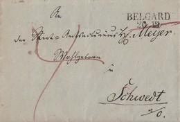Preussen Brief L2 Belgard 20.12. Gel. Nach Schwedt - Preussen
