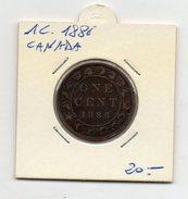 Canada - 1 Centesimo - 1886 - (FDC4493) - Canada