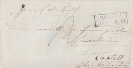 Preussen Brief R2 Rossla 23.8. Gel. Nach Castell - Preussen