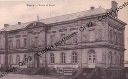 CPA - Manche - Percy - Mairie Et écoles - Belle Affiche Banania - Rare - Otros Municipios