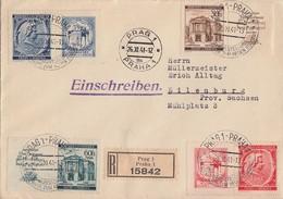 Böhmen Und Mähren R-Brief Mif Minr.79-82 Mit Zf Prag 26.11.41 - Böhmen Und Mähren