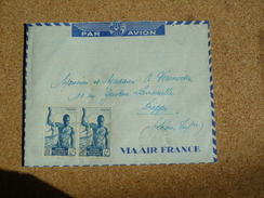 Enveloppe Affranchie A.E.F Pour Dieppe Oblitération Libreville - A.E.F. (1936-1958)