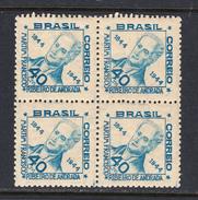 Brazil 1945 Mint No Hinge, Block, Sc# 624 , Yt 421 - Nuevos