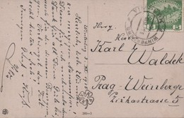 "Austria 1915 Winterberg/Vimperk, Postcard To Prag Bohemia Pretty Girl In Pink - ""C.V. Muttich Pinx"" - Interesting - 1850-1918 Empire"
