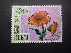 DUBAI Timbre Fleur Oblitéré - Dubai