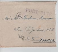 Lettre De Fortune Griffe Port Payé + Griffe Bilingue Mons Bergen 11 V.Anvers C.d'arrivée 14/12/1918 PR4566 - Postmark Collection