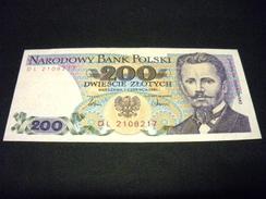 POLOGNE 200 Zlotych 01/06/1986 , Pick N° 144 C , POLAND - Polonia