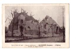 80 - MAUCOURT . L'EGLISE . (Devant, La Cloche Tombée) . GUERRE 1914/1918 - Réf. N°2145 - - Other Municipalities