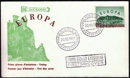 San Marino 1961 / Europa CEPT / FDC - 1961
