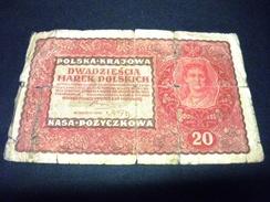 POLOGNE 20 Marek 23/08/1919 , Pick N° 26 , POLAND - Polonia