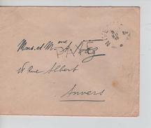 Lettre De Fortune Griffe Payé + C.Nivelles 3/12/1918 V.Anvers C.d'arrivée 5/12.1918 PR4568 - Postmark Collection