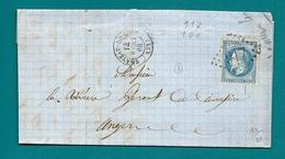Sarthe - Chateau Du Loir Pour L'ardoserie D'Angers (Maine Et Loire). GC + CàD Type 15 - 1849-1876: Classic Period