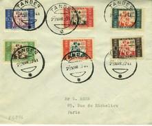 TANGER 1937 Carta Con Sellos BENEFICENCIA HOGAR ESCUELA DE HUERFANOS  EL546 - 1931-Hoy: 2ª República - ... Juan Carlos I