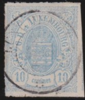 Luxembourg   .     Yvert   . 6     .    O    .     Gebruikt   .    /    .     Cancelled - 1859-1880 Wapenschild