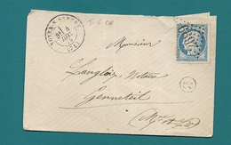 Sarthe - Noyen Sur Sarthe Pour Genneteil (Maine Et Loire). CàD Type 17 + GC - Marcophilie (Lettres)