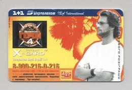 UKRAINE - X-CARD - TV Show - LAST HERO -Phonecard Telecard Chip Card PS 3360 Units - Ukraine