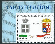 Italia, Italy 2011; Stemmi, Coats Of Arms, Della Marina Militare Italiana, Da Foglietto. Nuovo. - Briefmarken