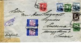GUERRA CIVIL Carta  Certif. MADRID SEP36  Hasta SUIZA Bonito Franqueo     EL551 - 1931-Hoy: 2ª República - ... Juan Carlos I