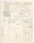1914 MILOURD PAR ANOR SOCIETE DES FORGES DE MILOURD ANCIENNEMENT DESPRET FRERES ACIERS POUR OUTILS LIMES RAPES ABREUVOIR - France