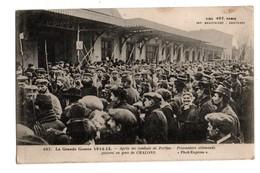 51 - CHÂLONS-SUR-MARNE . Après Les Combats De Perthes . Prisonniers Allemands Passant En Gare De Châlons - Réf. N°2152 - - Châlons-sur-Marne