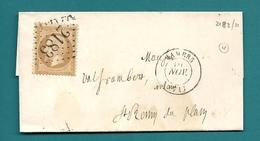 Sarthe -Mamers Pour St Remy Du Plan. Lettre Locale. GC + CàD Type 15 - 1849-1876: Période Classique