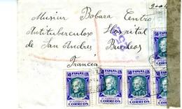 GUERRA CIVIL 1938 Carta Certificada Desde SOLSONA Con RARA FRANQUEO   Solo  Sellos Beneficencia  EL 553