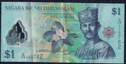 Billet De Banque Banknote Bill 1 Dollar Negara Brunei Darussalam Satu Ringgit - Brunei
