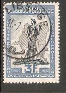003828 Belgian Congo 1950 Katanga 3F FU - Congo Belge