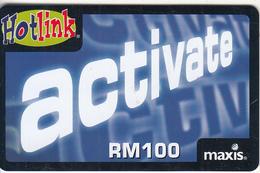 MALAYSIA - Activate, Maxis Prepaid Card RM100, Exp.date 05/07, Used - Malaysia