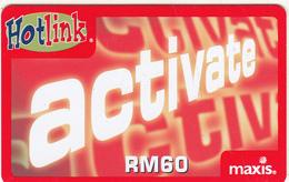 MALAYSIA - Activate, Maxis Prepaid Card RM60, Exp.date 06/07, Used - Malaysia