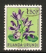 003842 Ruanda Urundi 1953 Flowers 1F50c FU - Ruanda-Urundi