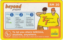 MALAYSIA - Beyond By Digi Prepaid Card RM10, Exp.date 01/01/07, Used - Malaysia