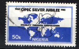 NIGERIA - 1985 -25° ANNIVERSARIO DELL'OPEC - USATO - Nigeria (1961-...)