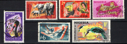 NIGERIA - 1965 - FAUNA DELLA NIGERIA - USATI - Nigeria (1961-...)