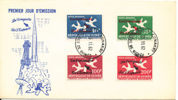Guinea FDC 15-11-1962 SPACE With Cachet - Guinea (1958-...)