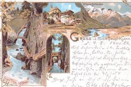 ALTE  Litho- AK   SIGMUND THUN- KLAMM /  Salzbg.  - 4 Versch. Ansichten -  1900 Gelaufen - Kaprun