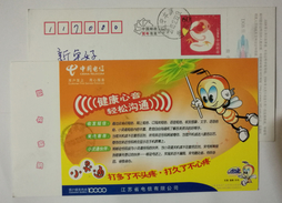 Bee,honeybee,China 2004 Jiangsu Telecom Business Advertising Pre-stamped Card - Abeilles