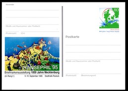 BUND PSo38 Sonderpostkarte LANDKARTE MECKLENBURG ** 1995 - Geographie