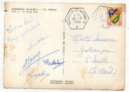 1960--Beau Cachet Manuel Hexagonal Bureau Auxiliaire MARSEILLE St ANTOINE--A Sur Carte Postale De Marseille Vue Aérienne - Postmark Collection (Covers)