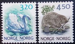 Norway, 1990, Swan, Beaver, MNH
