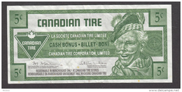Canada, 2011, 5¢, Billet Magasin Canadian Tire, Bank Note From The Canadian Tire Store, Billet Boni, Cash Bonus - Canada