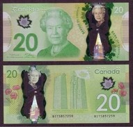 Canada, 2012, UNCL, Nouveau 20$ En Polymère, New Polymer 20$, Vimy - Canada