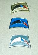 PARACHUTTING, YUGOSLAV ARMY, COMPLETE SET OF 3 RARE VINTAGE PINS - Parachutting