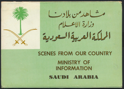 °°° CARNET OF 10 POSTCARDS - SAUDI ARABIA - SCENES FROM OUR COUNTRY - MINISTRY OF INFORMATION.°°° - Arabia Saudita
